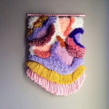 Woven Wall Hanging / Furry Lanscape N (Image 15 of 15)