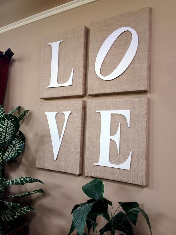 Wrap Blank Canvases In Burlap To Create Wall Art! Love This (Image 15 of 15)