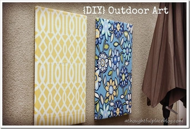 Wrap Canvas With Outdoor Fabric For Some Quick Art And Punch Of With Outdoor Fabric Wall Art (Image 15 of 15)
