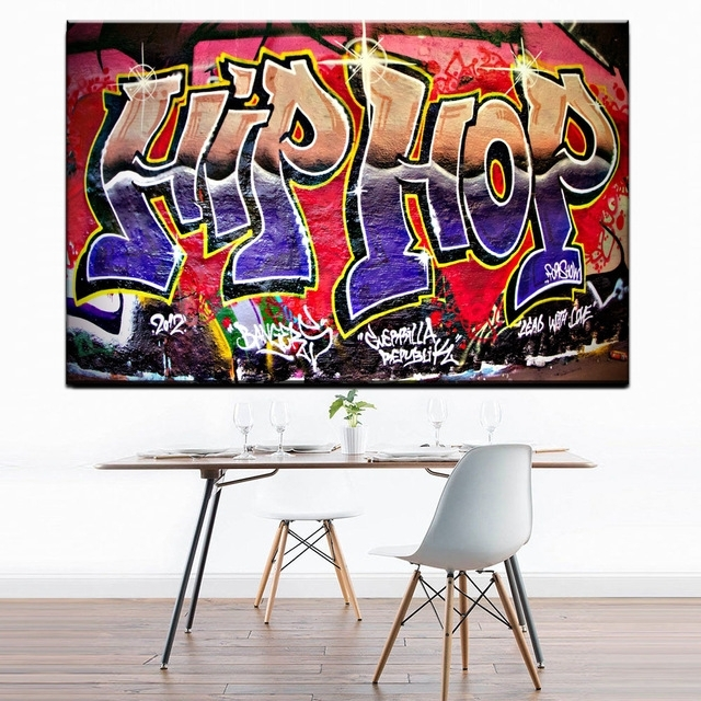 Xdr951 Graffiti Street Art Hip Hop Canvas Wall Art Prints Poster Throughout Graffiti Canvas Wall Art (Image 15 of 15)
