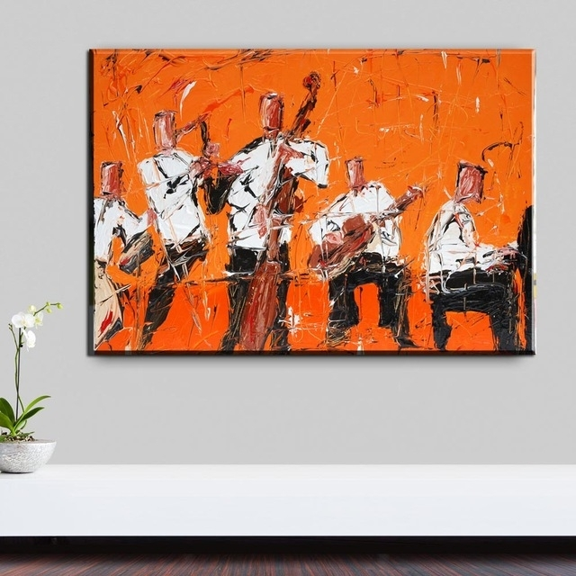 Xh2273 Rock Jazz Music Home Decor Wall Art Painting Canvas Art regarding Jazz Canvas Wall Art