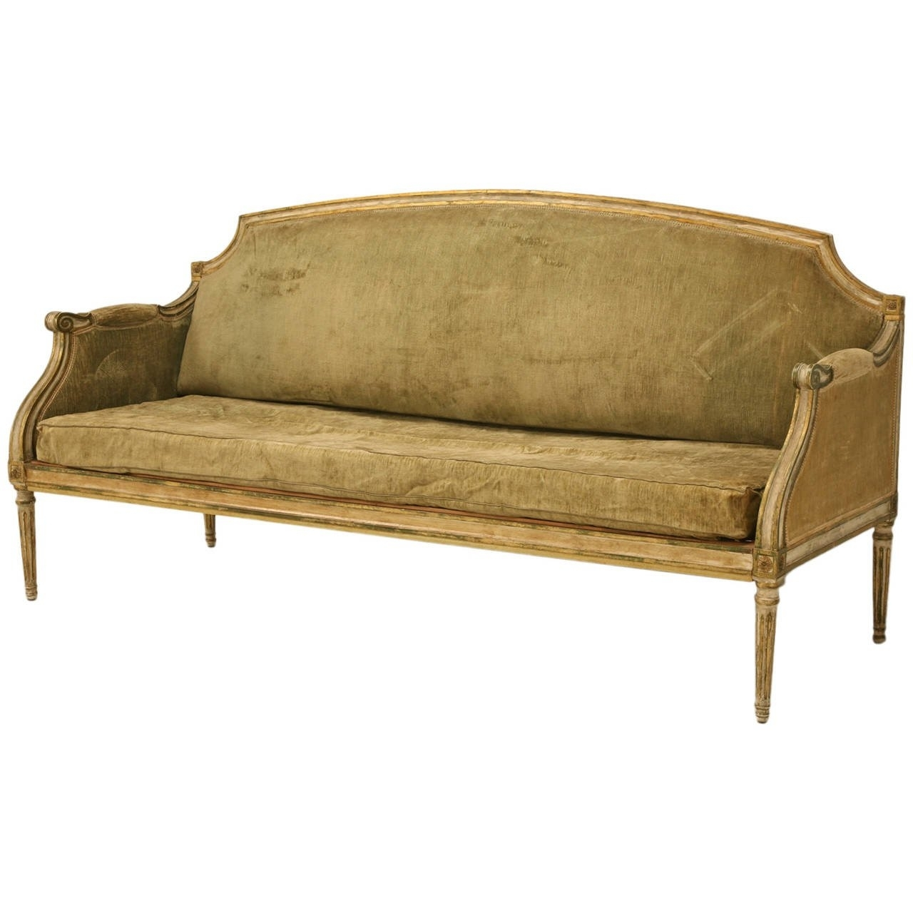 Xvi Style Antique Sofa In Incredible Original Paint At 1Stdibs regarding Antique Sofas