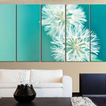 Xxl 5 Panel Wall Art Canvas Print From Mycanvasprint Throughout Dandelion Canvas Wall Art (View 11 of 15)