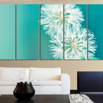 Xxl 5 Panel Wall Art Canvas Print From Mycanvasprint throughout Dandelion Canvas Wall Art