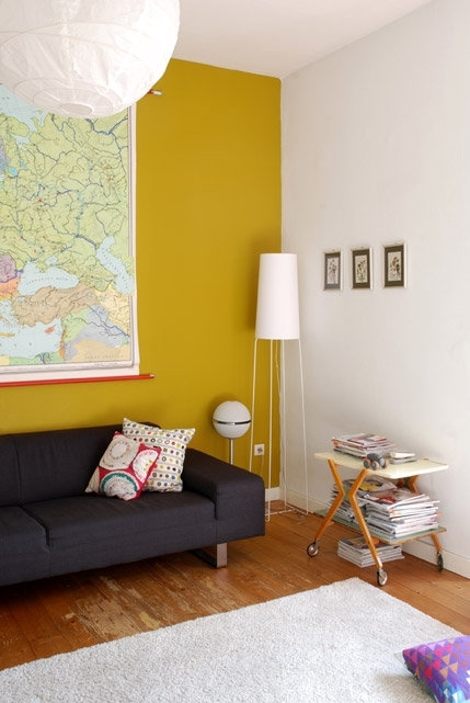 Wall Art Ideas: Yellow Wall Accents (Explore #7 of 10 Photos)