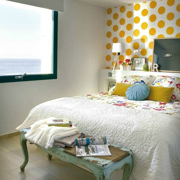 Yellow Bedroom With Red Accents Comfy Bedrooom With Red Yellow Intended For Wall Accents For Yellow Room (View 2 of 15)