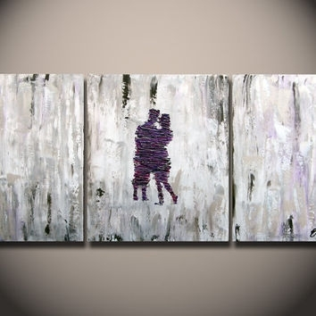 Yellow Canvas Art, Gray And Yellow Art, From Oritart On Etsy Inside Purple And Grey Abstract Wall Art (Image 15 of 15)