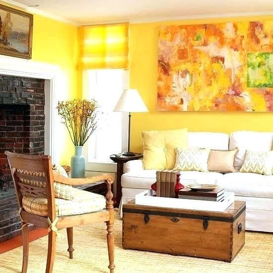 Yellow Living Room Designs Grey Yellow Living Room Pics Within Wall Accents For Yellow Room (Image 15 of 15)