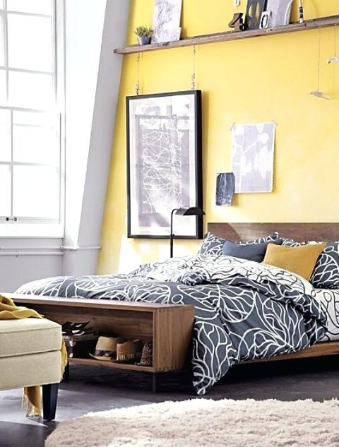 Yellow Walls Home Decorating Trends Yellow Walls With Grey Accent Regarding Yellow Wall Accents (Image 10 of 10)