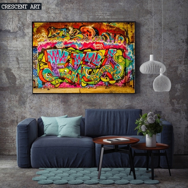 Young Fashion Modern Pop Teenage Graffiti Street Art Poster pertaining to Abstract Wall Art Posters