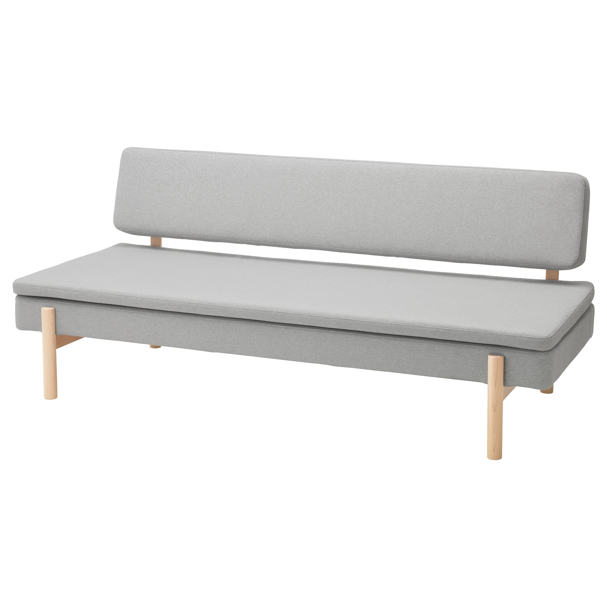 Ypperlig 3-Seat Sofa Bed Ramna Light Grey - Ikea pertaining to Ikea Small Sofas