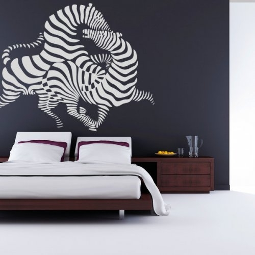 Zebra Art, Animal, Mammal, Africa, Decal, Vinyl, Sticker, Wall For Vinyl Stickers Wall Accents (Image 15 of 15)