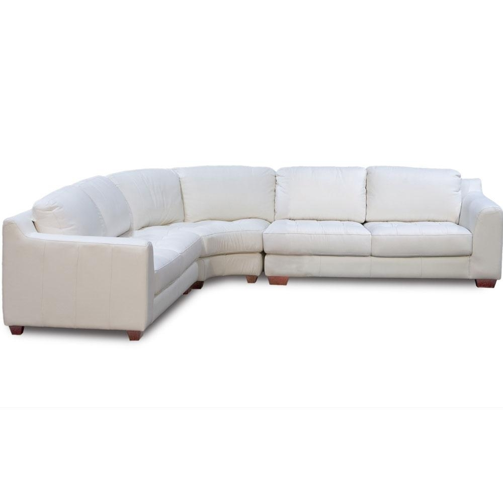 Zen Collection Arm Sectional With Armless Corner Wedge | Sectional Sofas within Rounded Corner Sectional Sofas