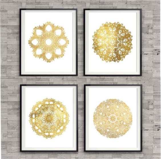 Zspmed Of Gold Wall Decor Intended For Gold Wall Accents (Photo 15 of 15)