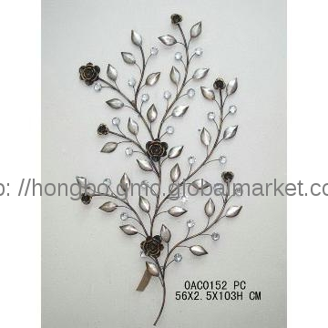 0Ac0152, China 2013 Hot Sale Nice Decorative Metal Flower Wall Art Regarding Metal Flowers Wall Art (Image 1 of 20)