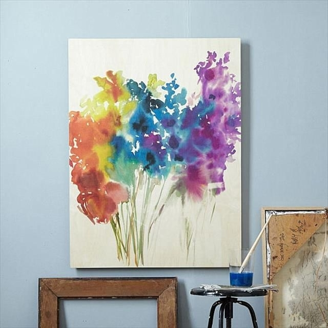 10 Easy Diy Canvas Art Ideas For Beginners | Cuadros | Pinterest Intended For Wall Art Paintings (Image 1 of 25)