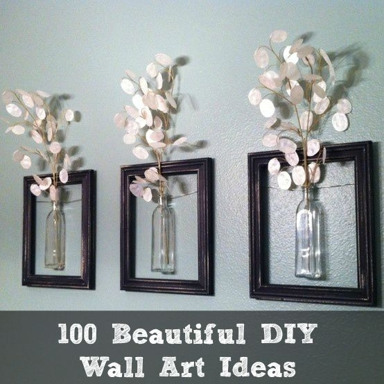 100 Beautiful Diy Wall Art Ideas | Diy Cozy Home Money Plants Thanks Intended For Wall Art Diy (Image 1 of 25)