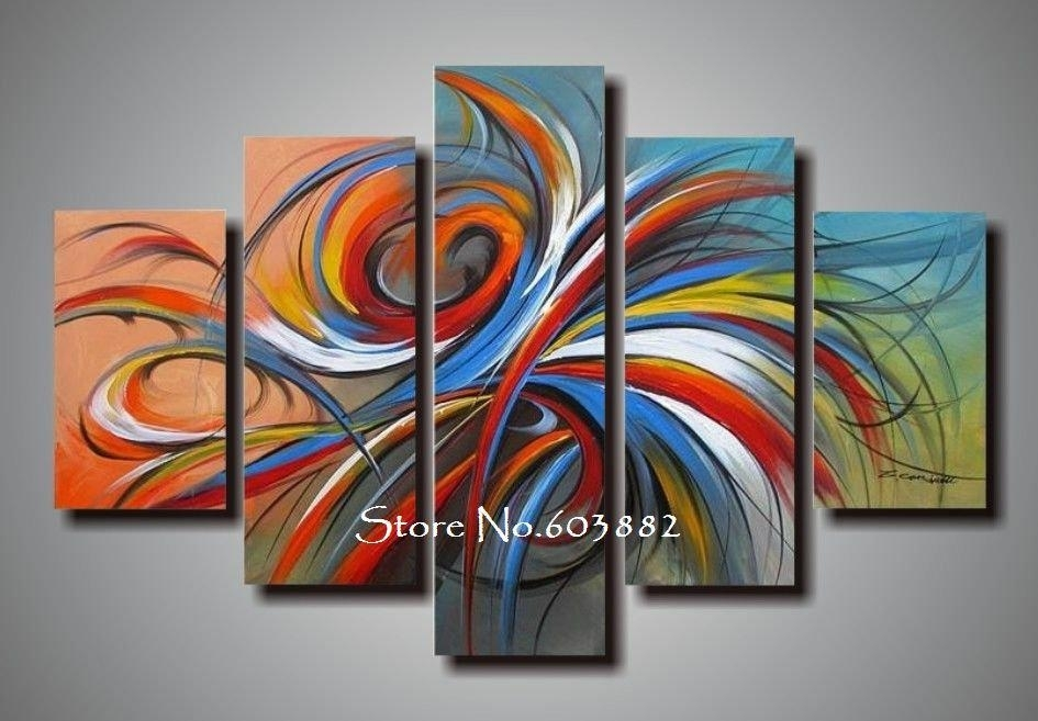 100% Handmade Discount Canvas Art Wall Art Canvas Modern Abstract In Cheap Canvas Wall Art (View 9 of 10)