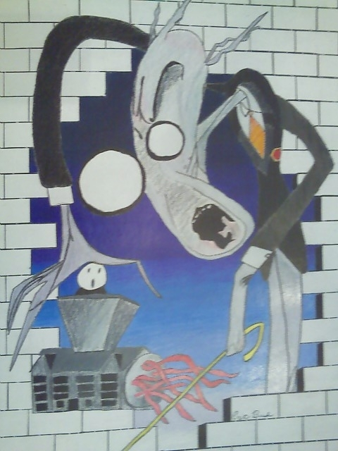 10Th Grade Art/pink Floyd The Wall Animated School – Bush611's Regarding Pink Floyd The Wall Art (Image 1 of 20)