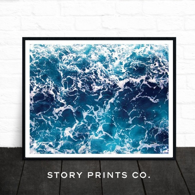11 Ocean Wall Art, Ocean And Sun Triptych Wall Art In Ocean Wall Art (Image 1 of 25)