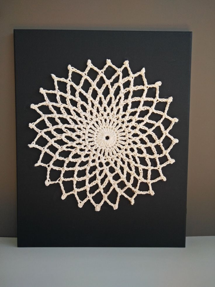 14 Best Crochet Wall Art Images On Pinterest Crochet Wall Art With Crochet Wall Art (Image 1 of 20)