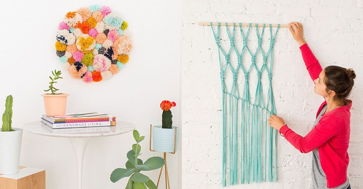 14 Diy Wall Art Projects For People Who Can't Paint In Diy Wall Art Projects (Image 2 of 25)