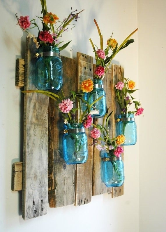 15 Colorful Diy Mason Jars For Spring | Idea Decor For The Home Intended For Mason Jar Wall Art (View 1 of 20)