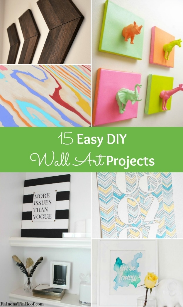 15 Easy Diy Wall Art Projects Pertaining To Diy Wall Art Projects (Image 3 of 25)