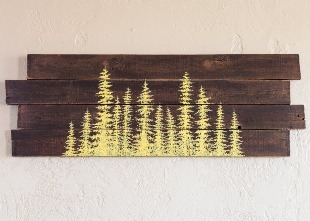15 Extremely Easy Diy Wall Art Ideas For The Non Skilled Diyers Intended For Wood Art Wall (Image 2 of 20)