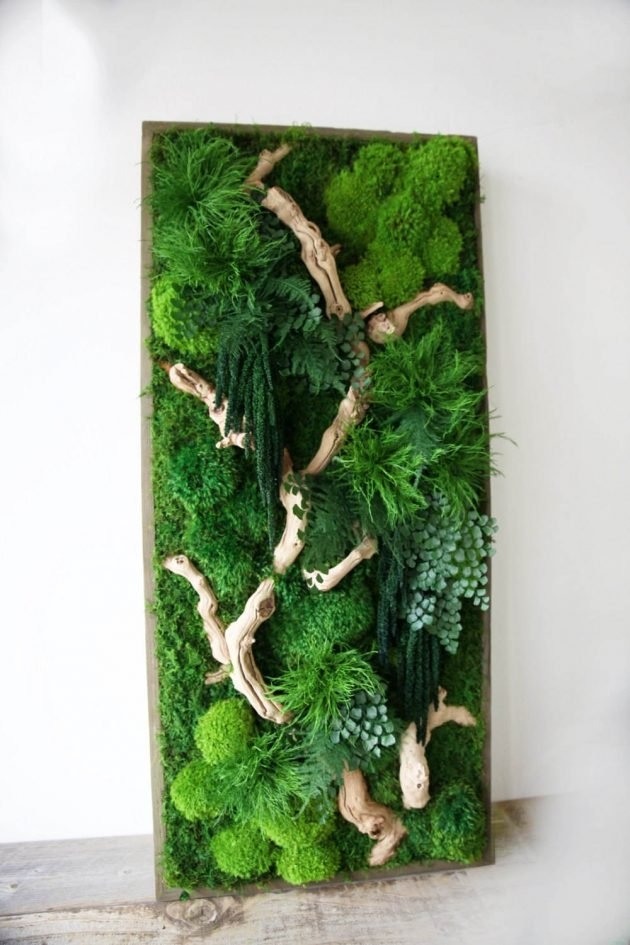 15 Spectacular Moss Wall Art Designs That Redefine The Living Wall Regarding Green Wall Art (Image 1 of 25)