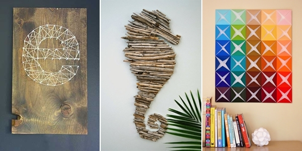 16 Spectacular Diy Wall Art Projects That Will Beautify Your Home With Diy Wall Art (Image 2 of 10)