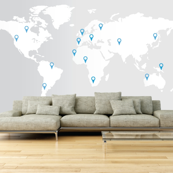 17 Cool Ideas For World Map Wall Art – Live Diy Ideas For World Map For Wall Art (Image 1 of 25)