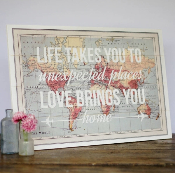 17 Cool Ideas For World Map Wall Art – Live Diy Ideas Within Maps Wall Art (Image 2 of 25)
