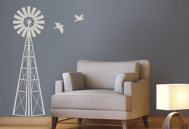 1M Windmill – Twiggy For Windmill Wall Art (Image 2 of 20)