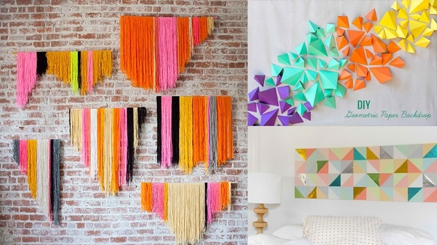 20 Diy Geometric Wall Art Decorations For A Vivid Modern Touch Regarding Modern Wall Art Decors (View 9 of 25)