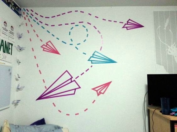 20 Diy Washi Tape Wall Art Ideas With Regard To Design 2 In Washi Tape Wall Art (View 10 of 20)
