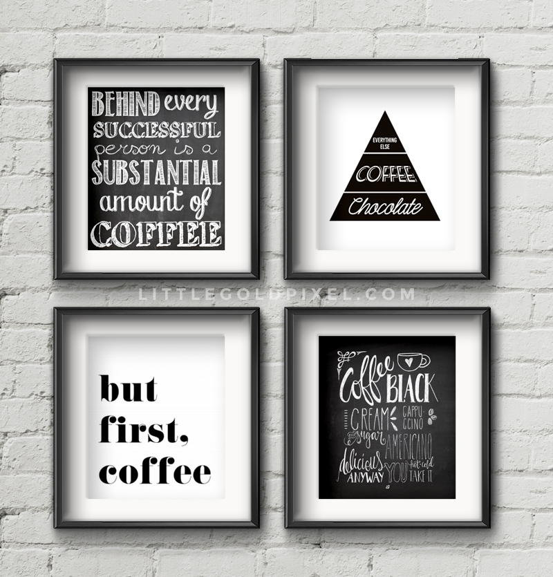 20 Kitchen Free Printables Wall Art Roundup Little Gold Pixel Throughout Wall Art For Kitchen (Image 1 of 20)