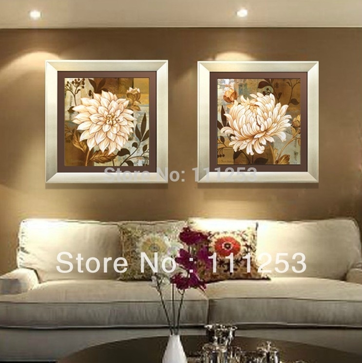 2016 Home Decor Framed Wall Art 100% Hand Painted High End Amazing In Modern Framed Wall Art Canvas (View 7 of 25)