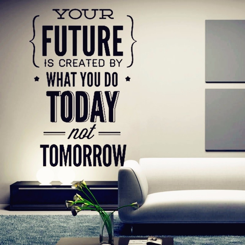 "2016 New Hot Inspirational Quotes Wall Stickers "" Your Future. (View 16 of 25)"