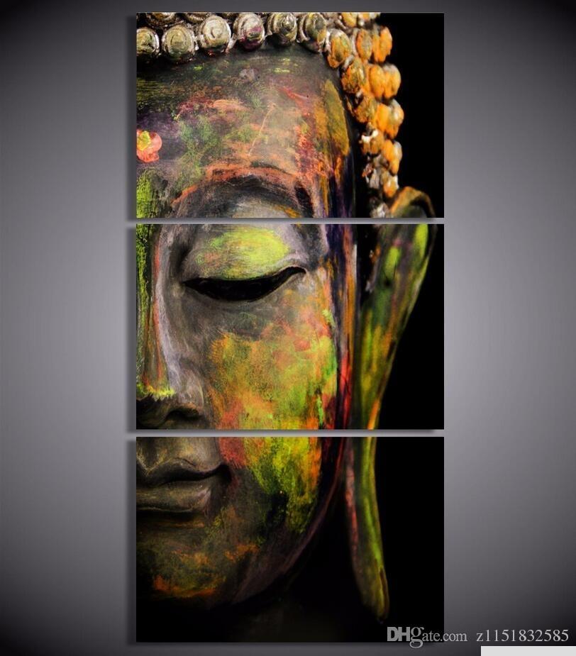 2017 Hd Printed Canvas Wall Art Buddha Meditation Painting Buddha Inside 3 Piece Canvas Wall Art (Image 1 of 20)