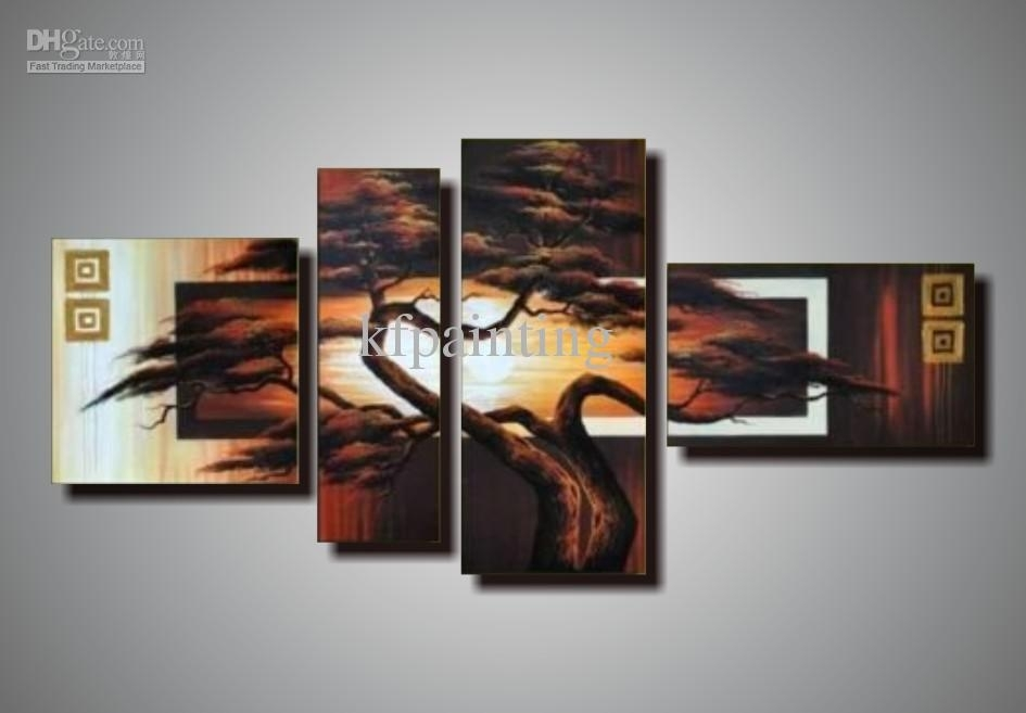 2018 100% Handpainted Unstretched Acrylic Abstract Canvas Wall Art Regarding Acrylic Wall Art (Image 1 of 25)
