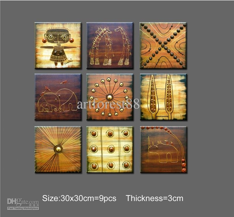 2018 Abstract Art African Wall Art For Sale Contemporary Large Within African Wall Art (Image 2 of 10)