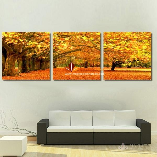 2018 Canvas Art Painting Modern Canvas Prints Artwork Of Landscape Within 3 Piece Canvas Wall Art (Image 2 of 20)