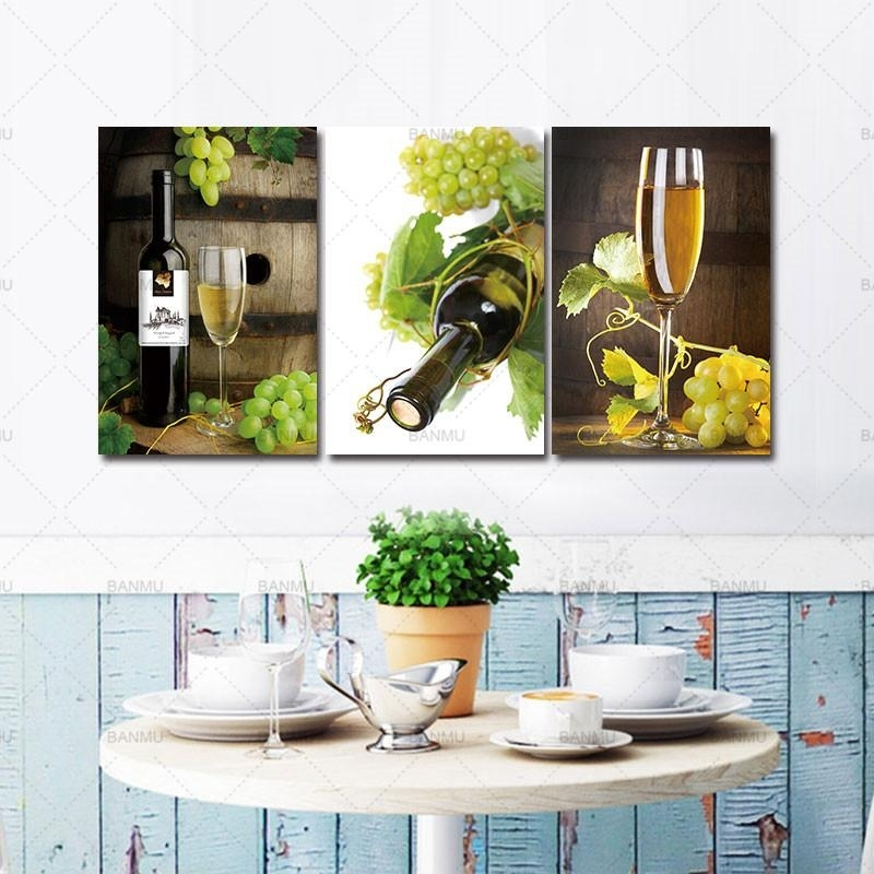2018 Canvas Prints Painting For Kitchen Living Room Wall Art Regarding Wall Art Prints (Image 1 of 20)