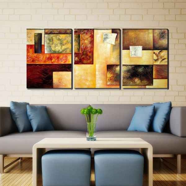 2018 Canvas Wall Art Decor Hand Paint Large Framed Oil Painting For Large Framed Canvas Wall Art (View 10 of 25)