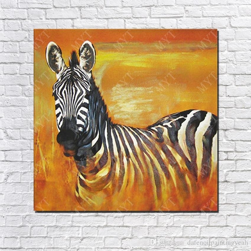 2018 Chinese Oil Painting African Wild Animal Zebra Wall Pictures In Zebra Canvas Wall Art (View 24 of 25)
