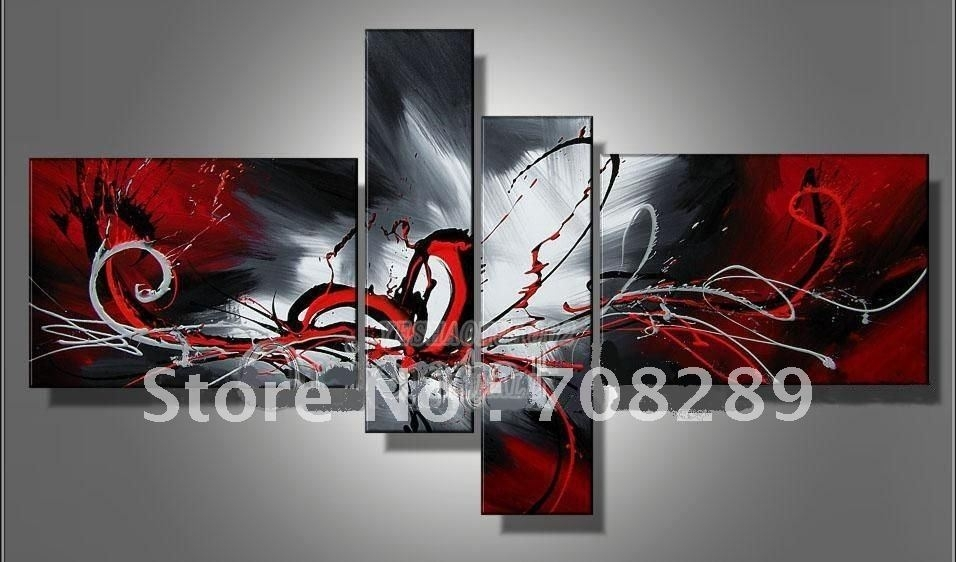 2018 Decoration Wall Art Oil Painting Red Love Heart Pop Modern Home For Modern Painting Canvas Wall Art (View 6 of 25)