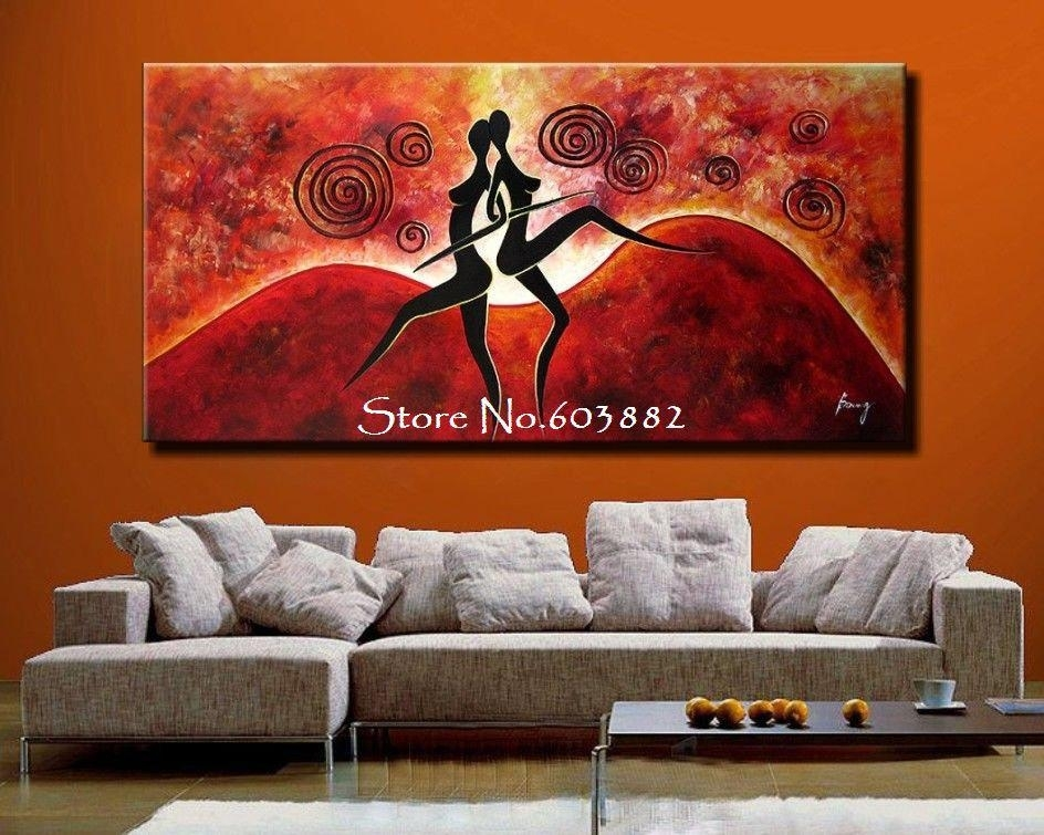 2018 Discount 100% Handmade Large Canvas Wall Art Abstract Painting Inside Cheap Large Canvas Wall Art (View 13 of 25)