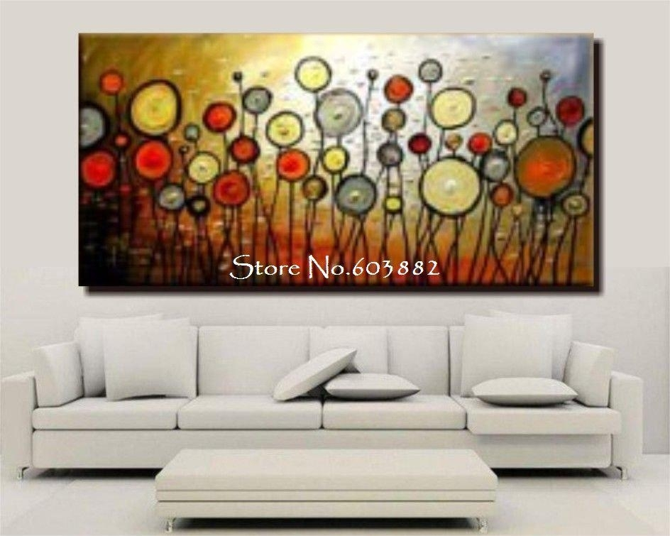 2018 Discount 100% Handmade Large Canvas Wall Art Abstract Painting With Giant Wall Art (Image 2 of 25)