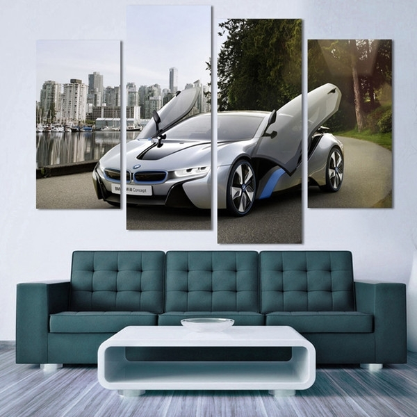 2018 Fashion Sport Car Canvas Prints Painting Decoration For Bed With Car Canvas Wall Art (View 7 of 25)